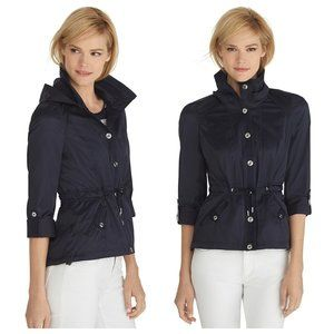 NWT White House Black Market Navy Hooded Jacket